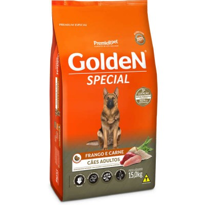 Ração Golden Special para Cães Adultos Sabor Frango e Carne - 15kg