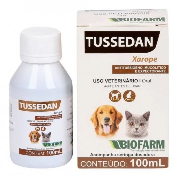 Tussedan Biofarm para Cães e Gatos - 100ml