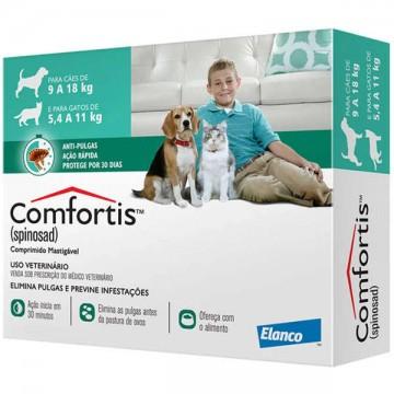Antipulgas Comfortis 560mg para Cães de 9 a 18kg e Gatos de 5,5 a 11kg