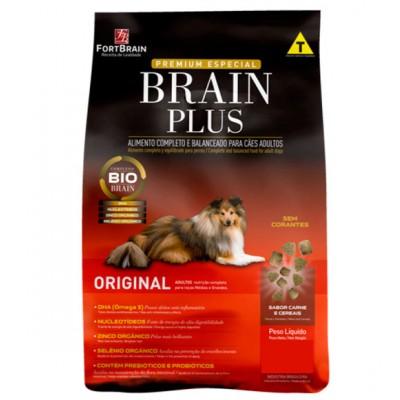 Ração Brain Plus para Cães Adultos - 15kg + Colchonete de Brinde